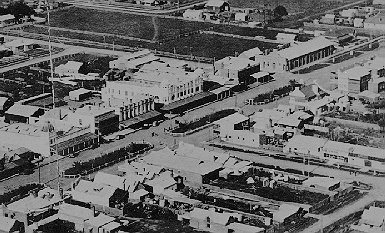 AERIAL VIEW OF YARRAM CIRCA 1935